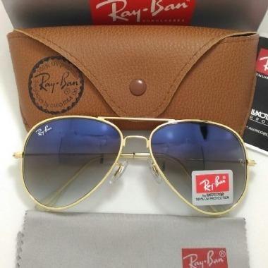 ef425f5e4 Óculos de Sol Ray Ban Aviador Azul Degradê 3025/3026 Unissex Novo - Foto 3