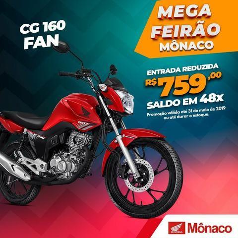CG 160 FAN - Moto Honda CG 160 FAN, Ano e Modelo 2019.