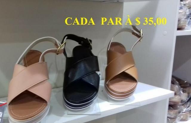 c577e8564 Calçados Femininos Novos Lote Flatform Plataforma Rasteirinhas Outros
