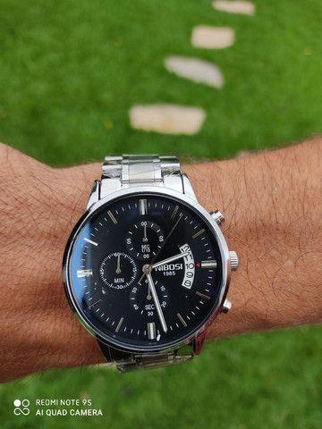 Relógio Luxo Original Nibosi Importado Blindado