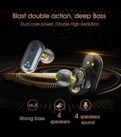 Fone sem fio Bluetooth SYLLABLE S101 (ainda melhor que o AirDots) - Foto 2