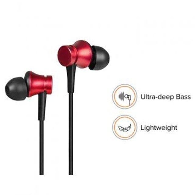 Fone de Ouvido Xiaomi com Microfone > Cor Disponivel: Preto / Vermelho - Foto 5