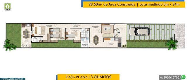 Casa de 3 Quartos | Varanda Gourmet | Terreno com 34m de comprimento - Foto 3