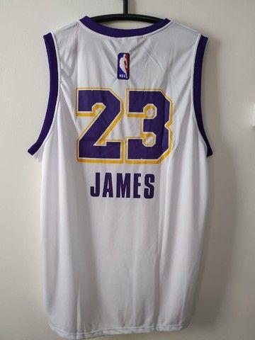 Regata NBA Lakers Branca - Foto 2