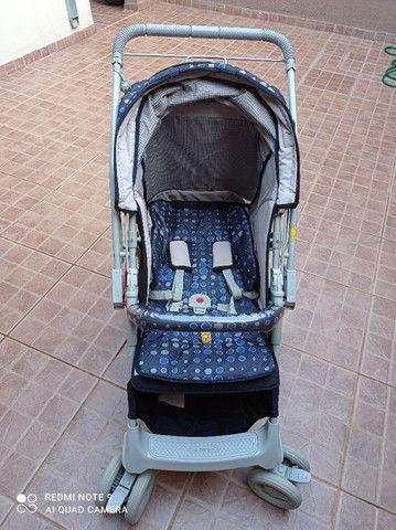 Kit bebê com carrinho, bebê conforto e tapete de atividades - Foto 4