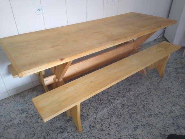 Mesa com bancos para churrasqueira - Foto 5
