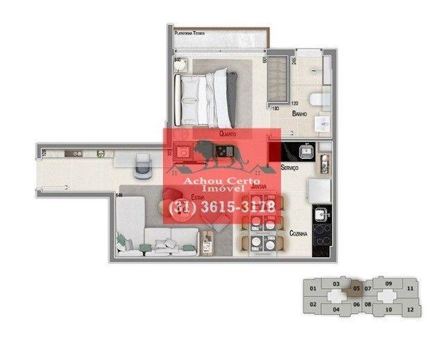 Apartamentos novos com 1 e 2 quartos à venda no bairro Santo Agostinho em BH - Foto 11