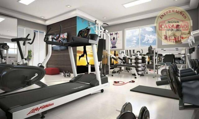 Apartamento com 2 dormitórios à venda, 58 m² por R$ 299.700,00 - Canto do Forte - Praia Gr - Foto 12