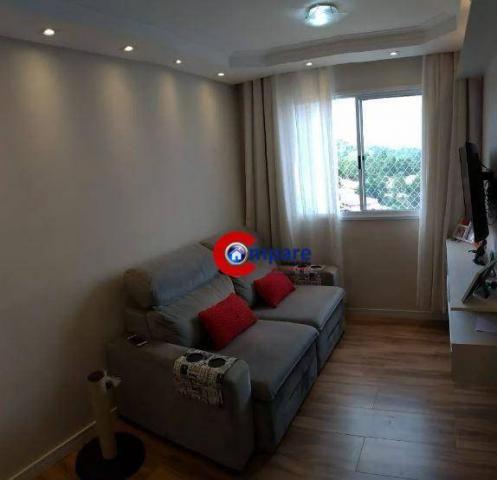 Apartamento com 2 dormitórios à venda, 44 m² por r$ 265.000 - vila rio de janeiro - guarul