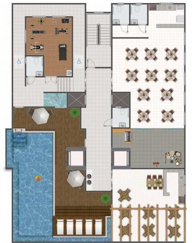Apartamento com 2 dormitórios à venda, 58 m² por R$ 299.700,00 - Canto do Forte - Praia Gr - Foto 4