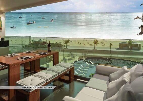Frente ao mar espetacular 02 e 03 quartos com 03 suites e Coberturas Praia dos Anjos - Foto 14
