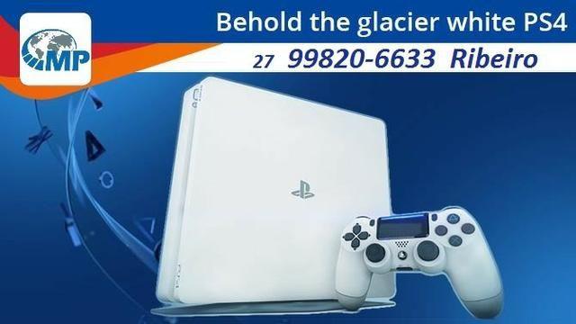 Playstation 4 Slim Branco 500Gb, Melhor preço!! opção 12x
