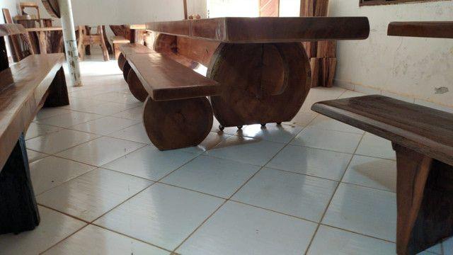 Mesa peça única 4,80 metros Sumauma - Foto 3