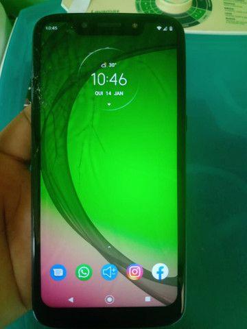 Moto G7 play com a tela trincada - Foto 3