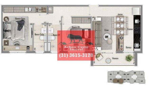 Apartamentos novos com 1 e 2 quartos à venda no bairro Santo Agostinho em BH - Foto 10