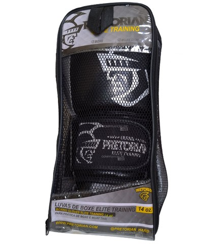 Luva + Bandagens + Protetor Bucal Pretorian Elite Premium Muay Thai Boxe Somos Loja - Foto 6