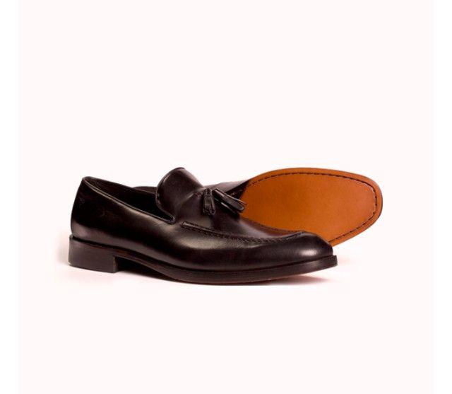 Sapato Masculino Monarchy Slipper Preto (Couro Legítimo)
