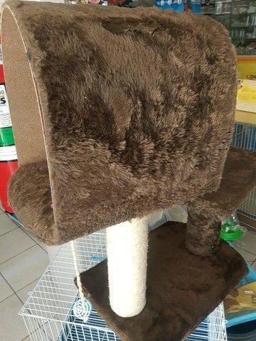 Arranhador novo e toca para gatos - Foto 6