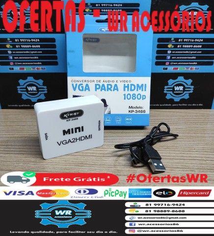 Conversor/Adaptador VGA para HDMI -ENTREGA GRÁTIS - Foto 2