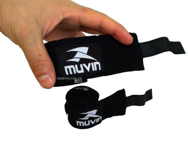 Bandagens Faixa De Mão Atadura Elastica Muay Thai Boxe Promoção Somos Loja - Foto 2