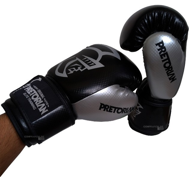 Luva + Bandagens + Protetor Bucal Pretorian Elite Premium Muay Thai Boxe Somos Loja - Foto 4