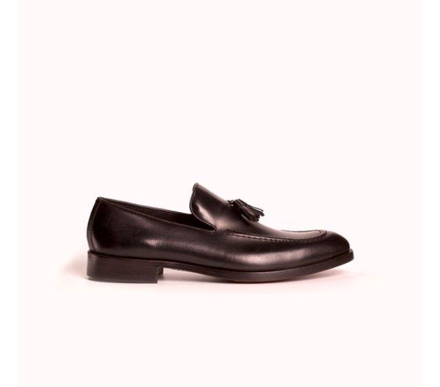 Sapato Masculino Monarchy Slipper Preto (Couro Legítimo) - Foto 2