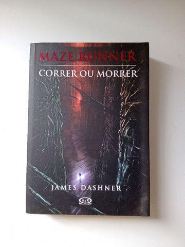 Livro Maze Runner-Correr ou Morrer