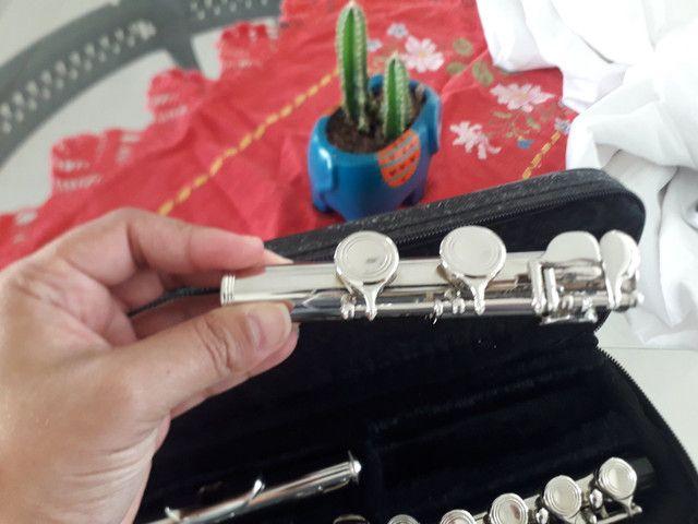 Vendo Flauta Transversa - Novinha ou troco por teclado. - Foto 3