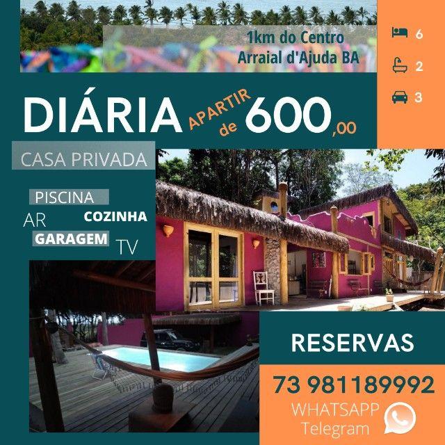Casa privada para 6p 600,00 Arraial d'Ajuda