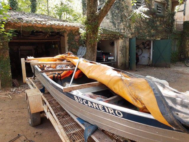 Barco Levefort com motor e carreta - Foto 5