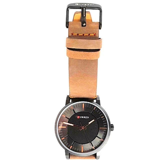 Relógio Masculino Marca: Curren 8332 marron com preto resistente á água - Foto 2