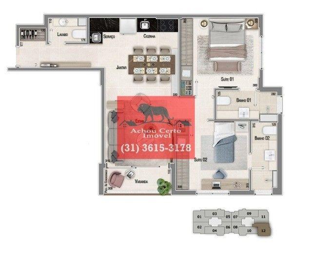 Apartamentos novos com 1 e 2 quartos à venda no bairro Santo Agostinho em BH - Foto 13