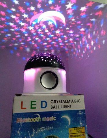 Luminaria Led Bluetooth Projetor Globo Estrela Bluetooth