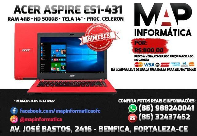 Notebook Acer com 6 meses de garantia
