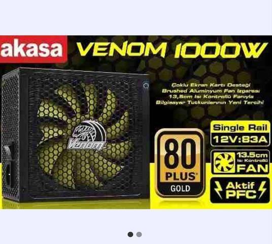 Fonte 1000w 80 Plus Gold Modular Pfc Ativo Akasa Venom