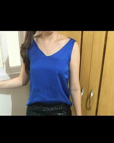 Blusinha azul TAM P