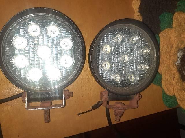 Farol de Milha 27W de 9 LEDs Branco Frio. - Foto 2