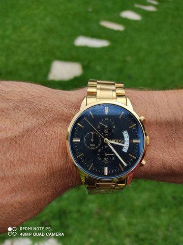 Relógio Luxo Original Nibosi Importado Blindado - Foto 3