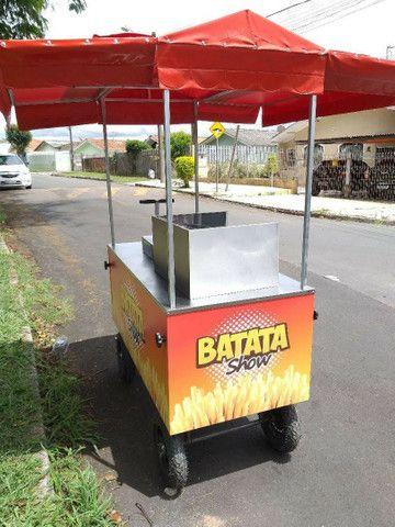 Carrinho pra batatinha frita personalizado novo completo  - Foto 3