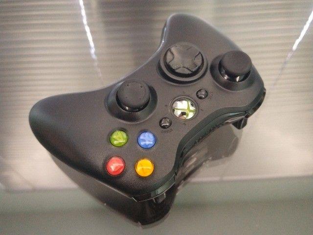 Controle Joystick Sem Fio Microsoft Xbox 360 Black - Foto 6