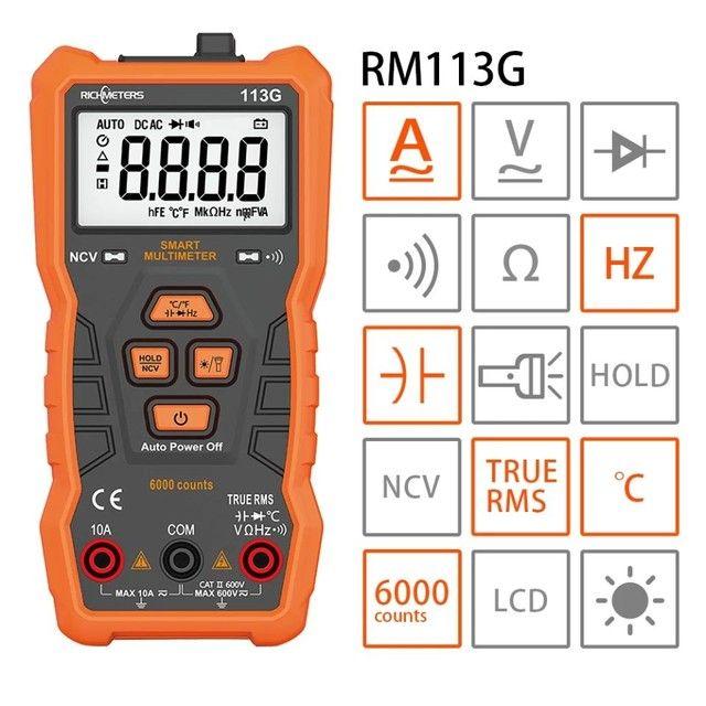 Multimetro Digital, TRUE-RMS, Volt Alert, Automático AC/DC, CAT II 600V