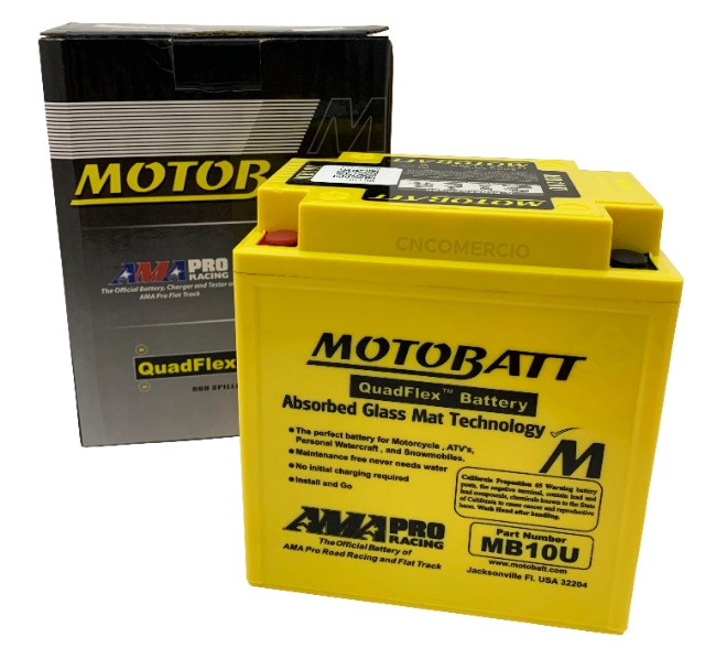 Bateria Motobatt Mb10u Yb10la2 Intruder 250 Gs500 Xv250 Virago 250 95-03 Gsx600f - Foto 5