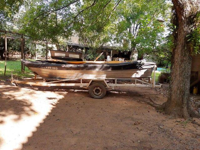 Barco Levefort com motor e carreta - Foto 3