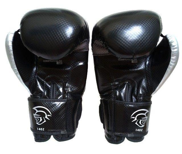 Luva + Bandagens + Protetor Bucal Pretorian Elite Premium Muay Thai Boxe Somos Loja - Foto 5