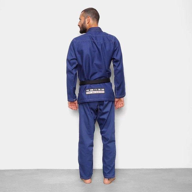 Kimono Jiu Jitsu Jiu-Jitsu Naja Brave Azul Reforçado Adulto Somos Loja - Foto 2