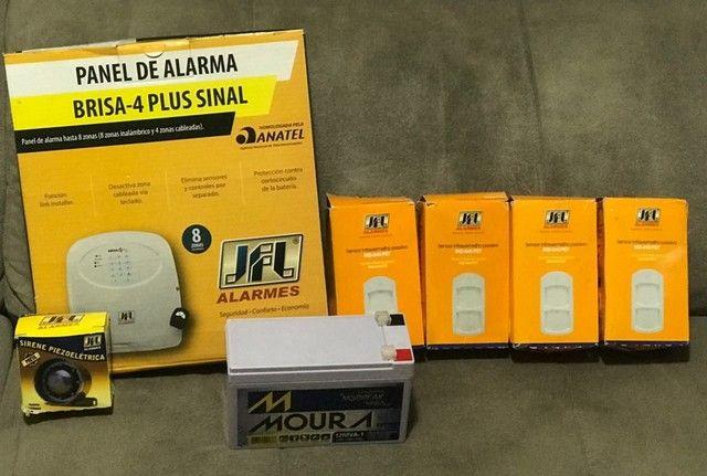 Kit alarme residencial JFL completo 4 zonas c/fio