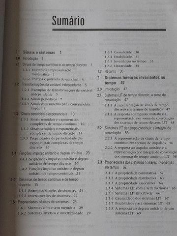 Sinais e Sistemas (Oppenheim) - Excelente Estado - Foto 3