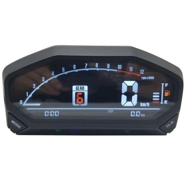 Painel digital universal para moto com sensor de velocidade