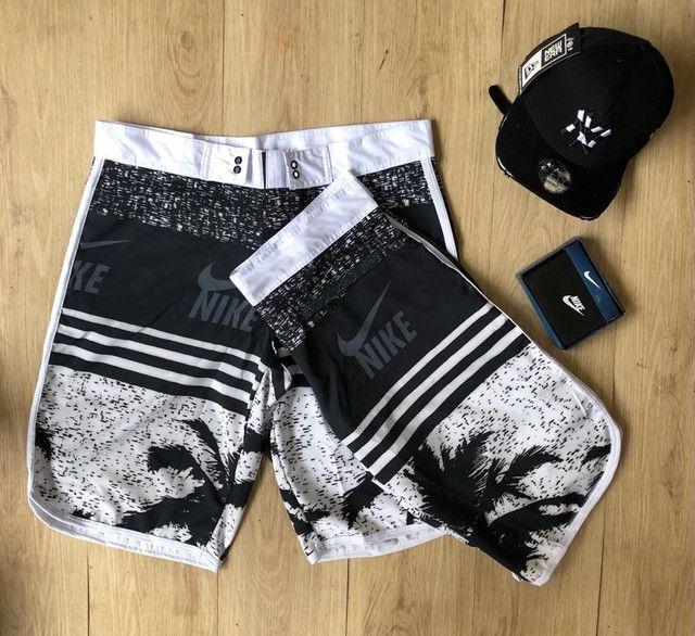 Shorts de praia Nike,hurey e oakley