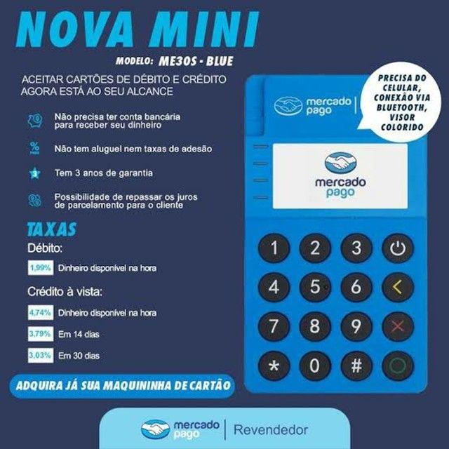 Maquininha mini point via bluetooth  tela ancende com pagamento com aproximação. - Foto 2